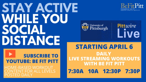 VISIT YOUTUBE: BE FIT PITT